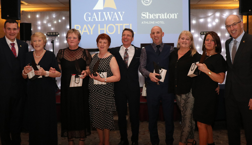 Galway Bay Hotel Team Members awarded for their hard work and commitment since the hotel opened in 1998.